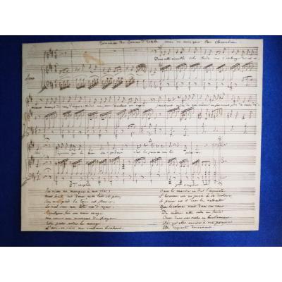 Manuscrit Musical Autographe De Luigi Cherubini