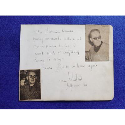 Lettre Autographe Signée Du Réalisateur John Ford