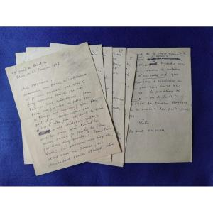 Autograph Letter Signed By Robert Bresson