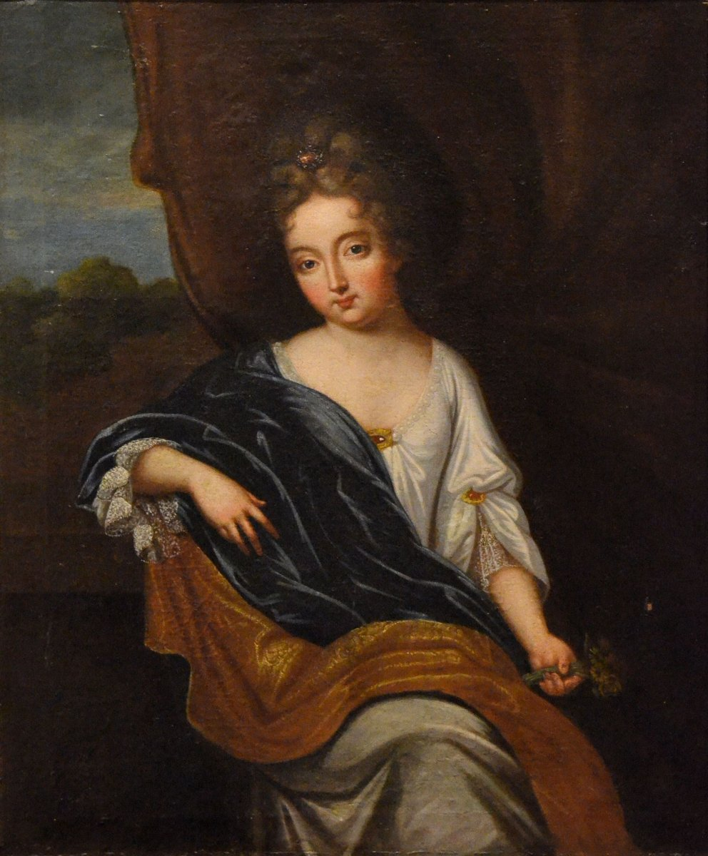 Portrait de la duchesse du Maine. Atelier de Pierre Gobert.