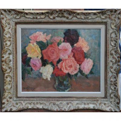 « Bouquet de fleurs » par CLEMENT-SERVEAU (1886-1972)