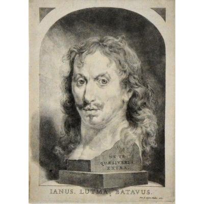 « Autoportrait 1681 » Johannes Lutma  le Jeune (1624 – 1685)