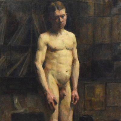 Académie d'homme nu (détail).