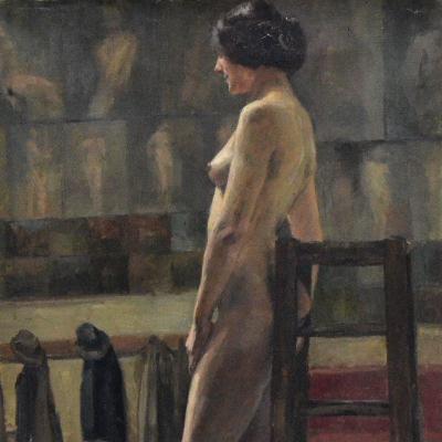 Académie de femme nue (détail)