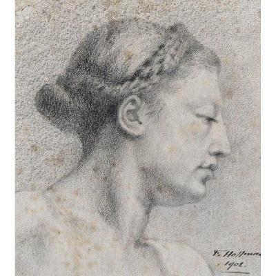 Profile Of A Woman.
