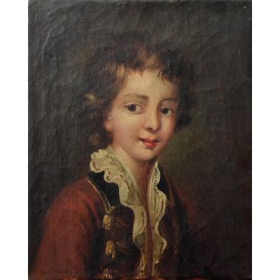 Jeune garçon à la veste rouge. Circa 1800.