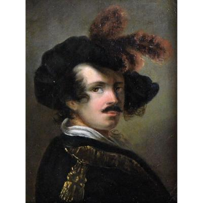 Man In Feathered Hat. Romantic Ep.