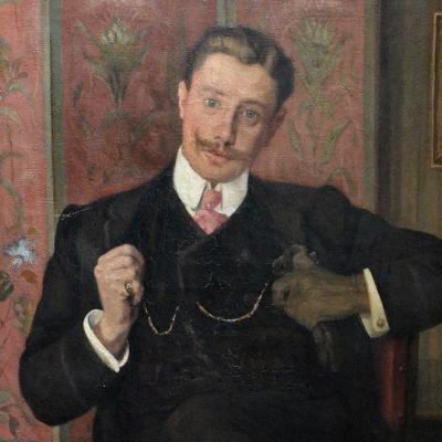 Portrait d'un dandy en 1907 (détail)