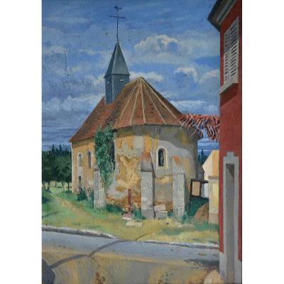 « L'église » Paul Louis BEAUMONT (1863 -1936)