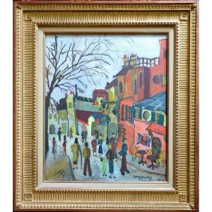 """""""montmartre Animated"""" Expressionist School."""