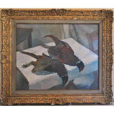 """""""nature Morte Aux Faisans"""" Circa 1900"""