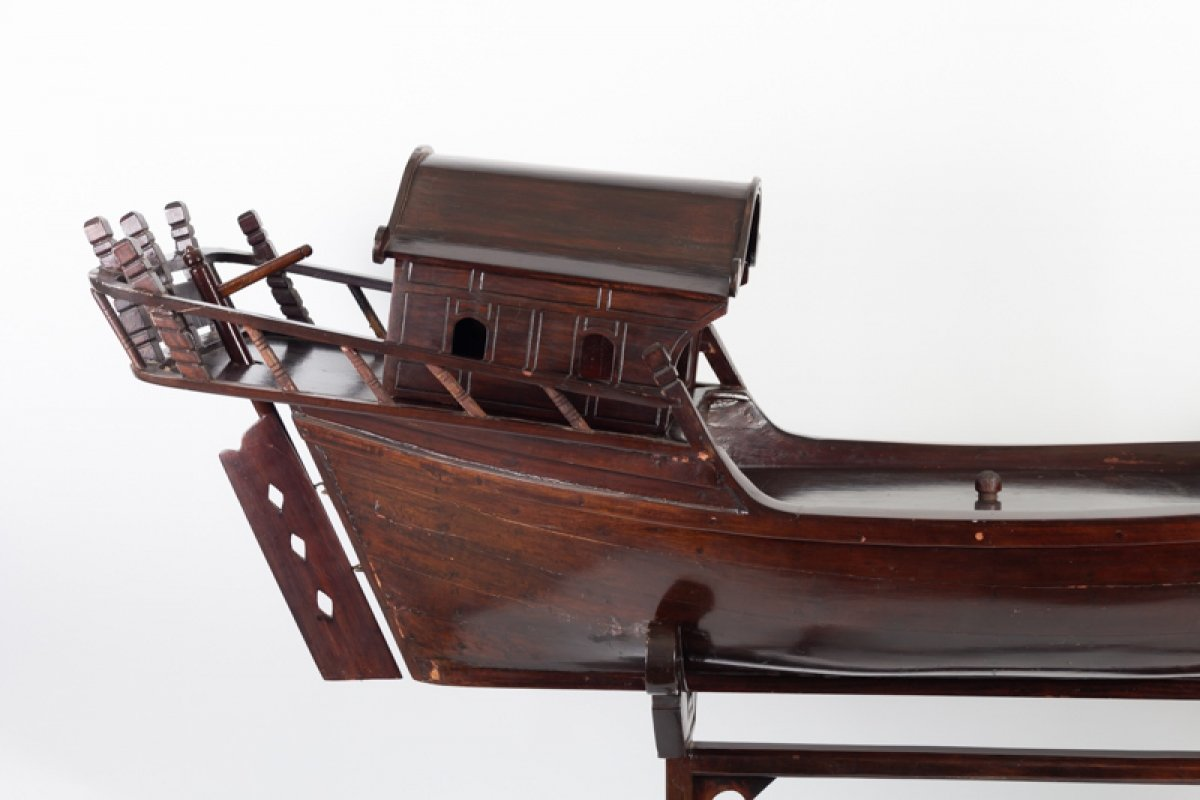 Chinese Junk In Exotic Wood-photo-4