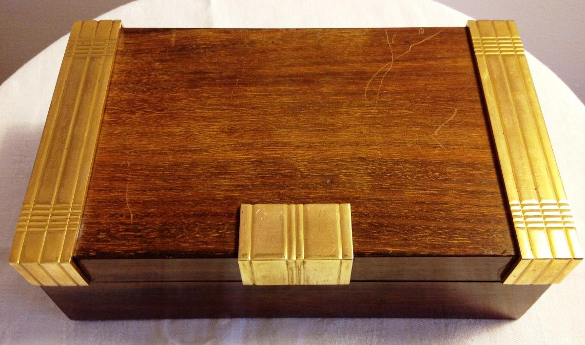 Art Deco Period Boin Taburet Cigar Box Signed