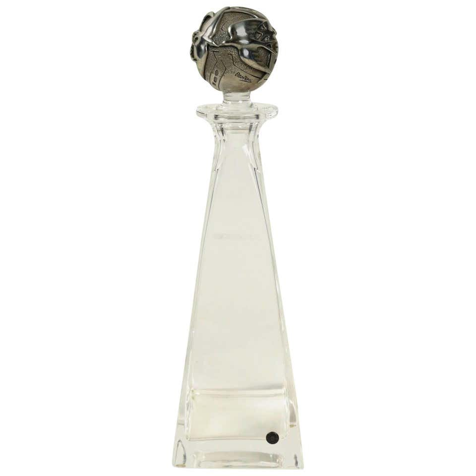 Decanter And Its Silver Stopper By Ottaviani, 1970s