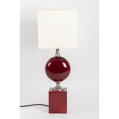 Table Lamp By Philippe Barbier, 1970s