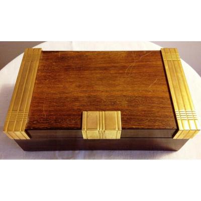 Boîte à Cigares Signées Boin Taburet d'époque Art-déco