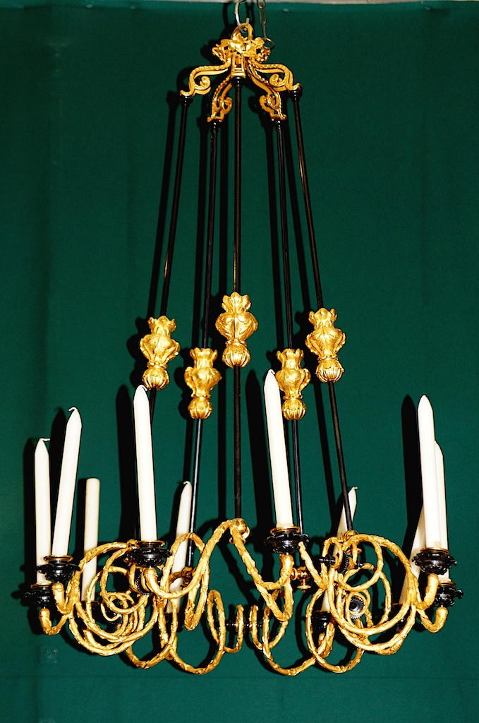 Chandelier Napoleon III Bronze Gilt And Patina
