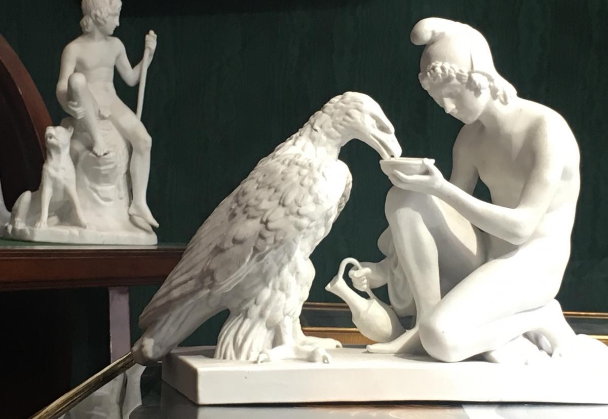 Ganymède Nourrissant l'Aigle Zeus, Biscuit Royal Copenhague