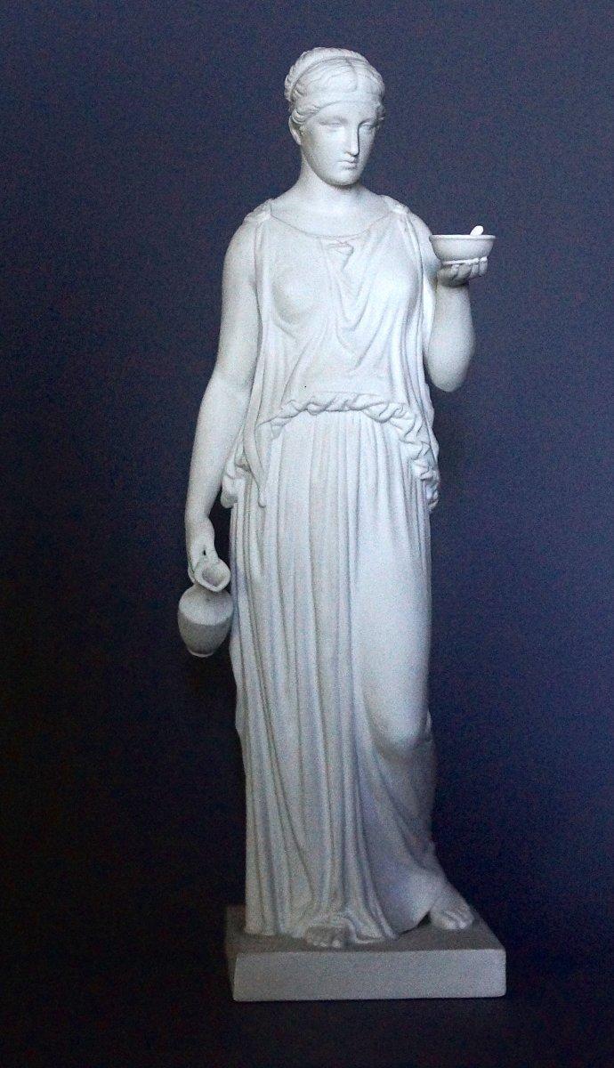 Hebe, Figurine En Biscuit De La Manufacture Royale De Copenhague, D'après Thorvaldsen