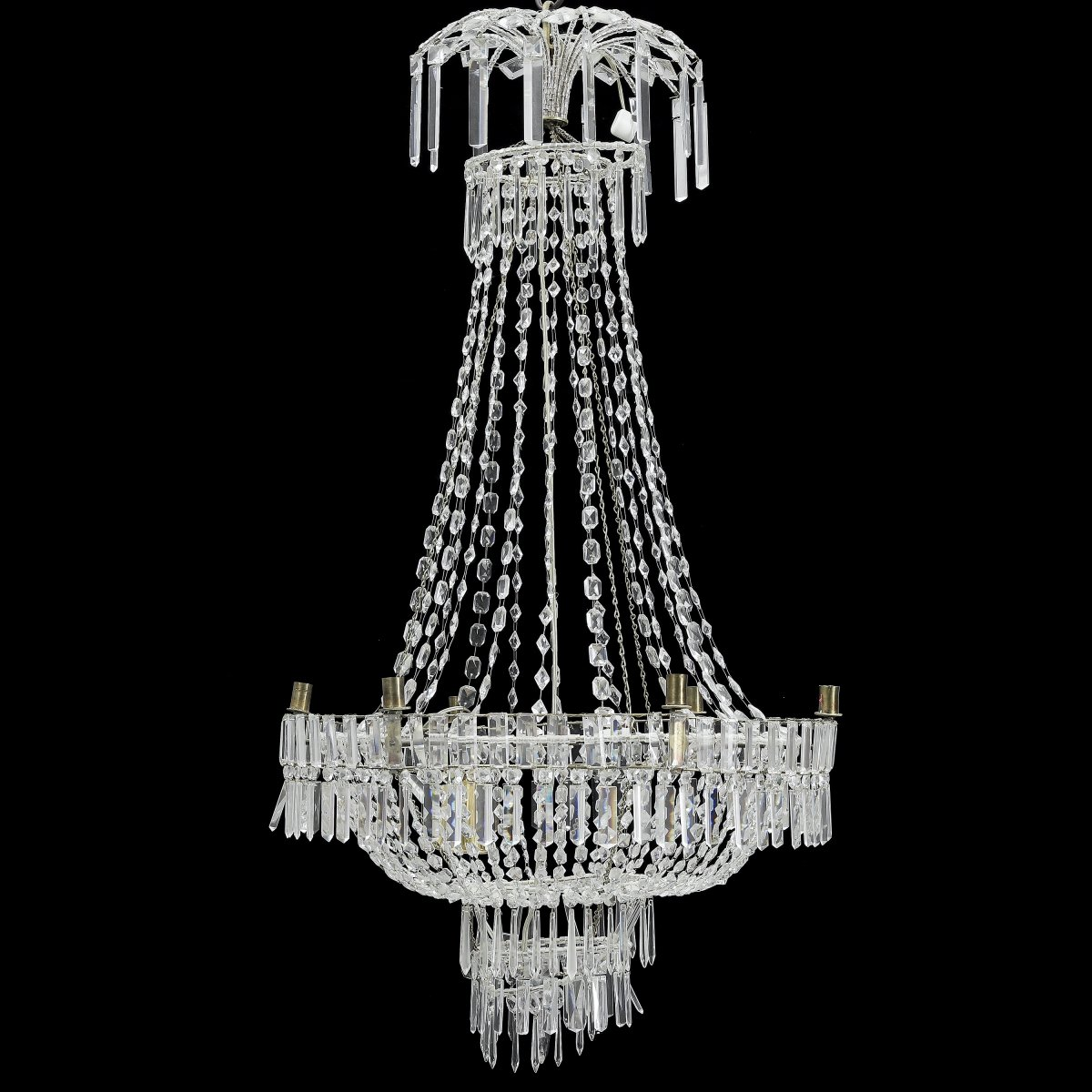 Grand Lustre Cristal Suède Classique Art Deco