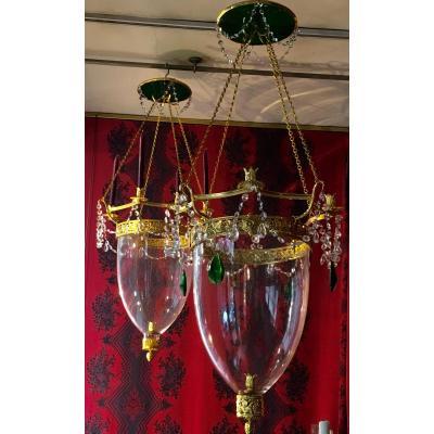 Paire de Lanternes Style Empire Russe