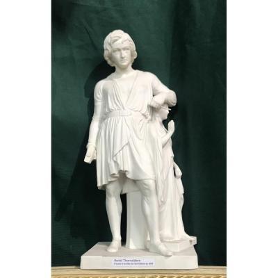 Thorvaldsen Sculpteur Figurine Biscuit
