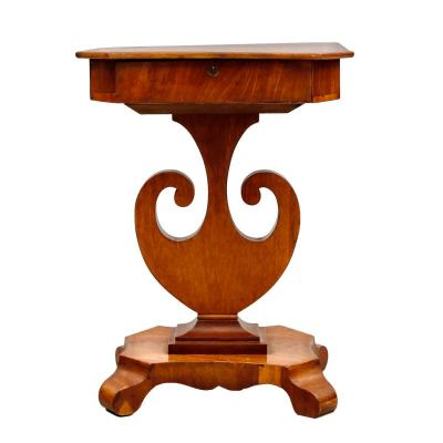 Mahogany Sweden Side Table. Carl Johann Era.