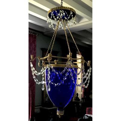Cobalt Blue Empire Style Russian Lantern