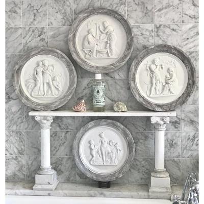 Suite De Grands Reliefs  En Biscuit «Les Quatre Ages de la Vie» d'après Thorvaldsen