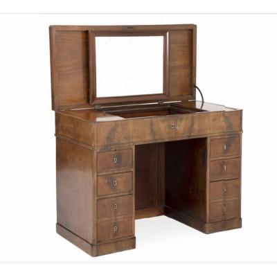 Gentelman's Desk-dressing Table In Light Mahogany For Handsome Interior