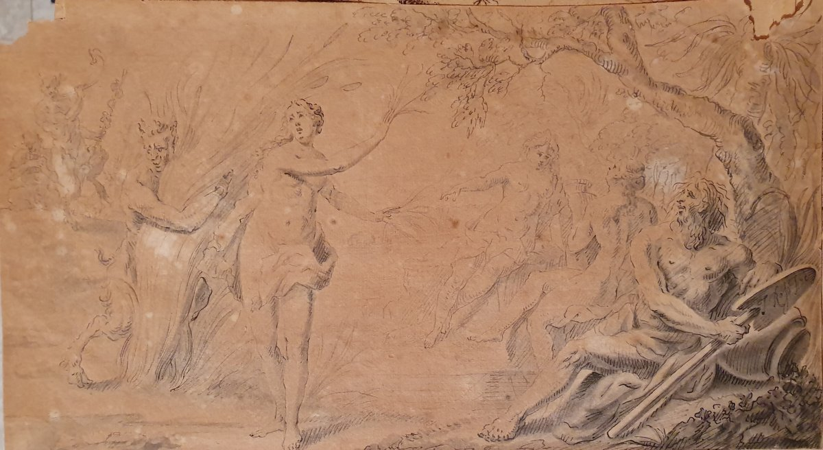 18th Century Drawing, Ink On Paper