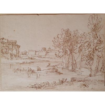 18th Century Landscape Drawing