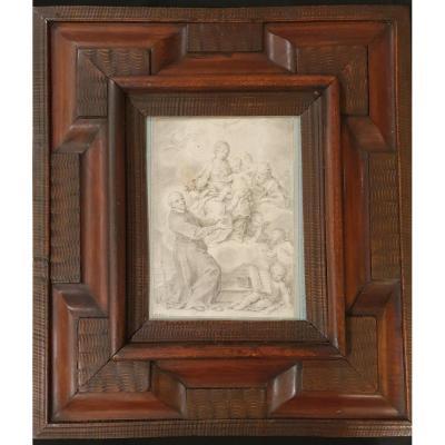18th Century Drawing, 17th Century Frame
