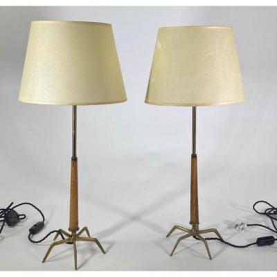 Paire De Lampes 60'