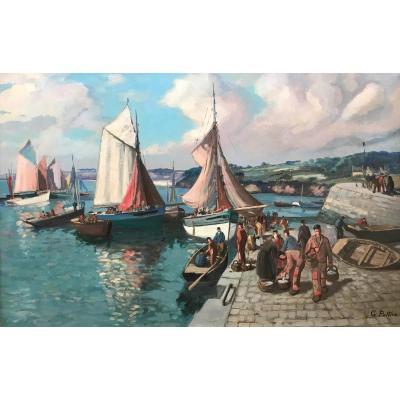 Gaston Pottier - Retour De Pêche à Douarnenez