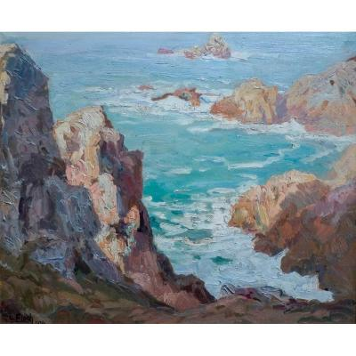Lionel Floch - Rocky Coast In Brittany, 1934