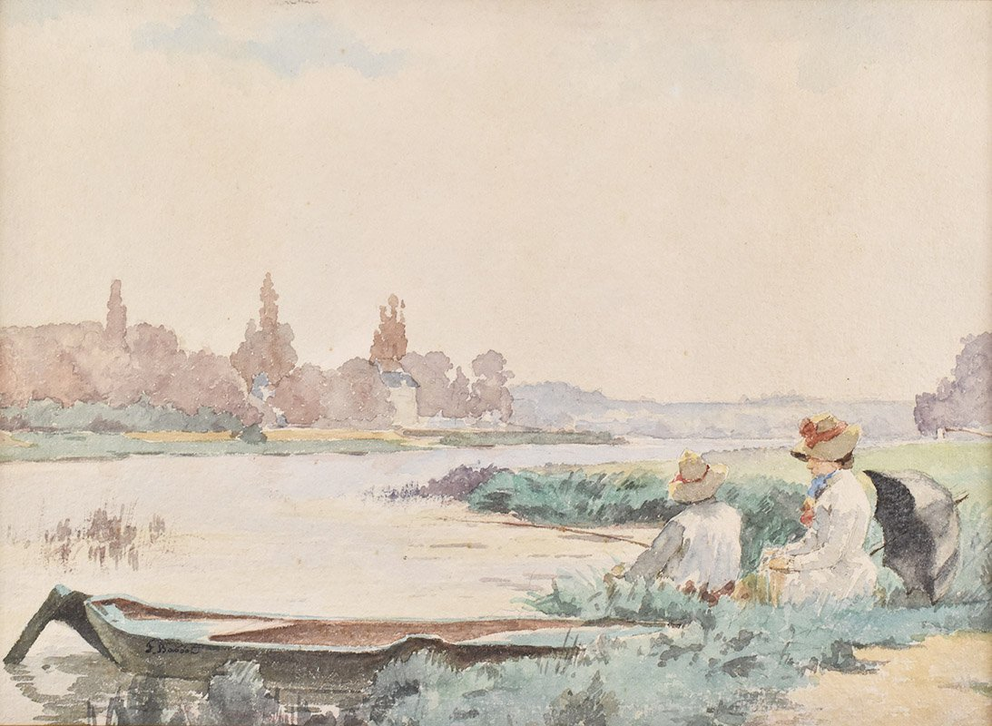 Ferdinand Bassot (1843-1900), Watercolor On Paper, Impressionist