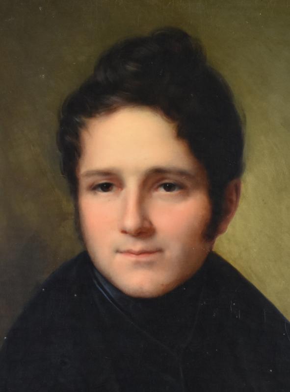 François Joseph Kinson (1771-1839), Portrait Of Young Man, Oil On Original Canvas, Painting-photo-2