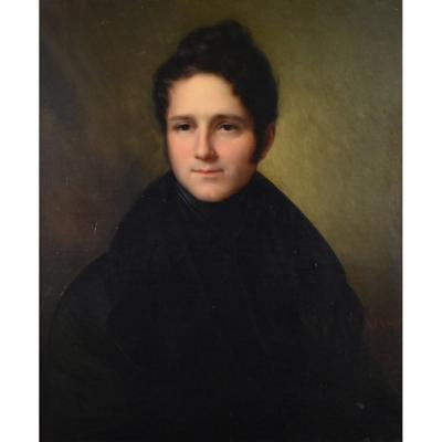 François Joseph Kinson (1771-1839), portrait de jeune homme, huile sur toile d'origine. Tableau