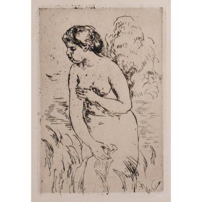 Auguste Renoir, Original Engraving From 1919, Impressionism, Nude Woman