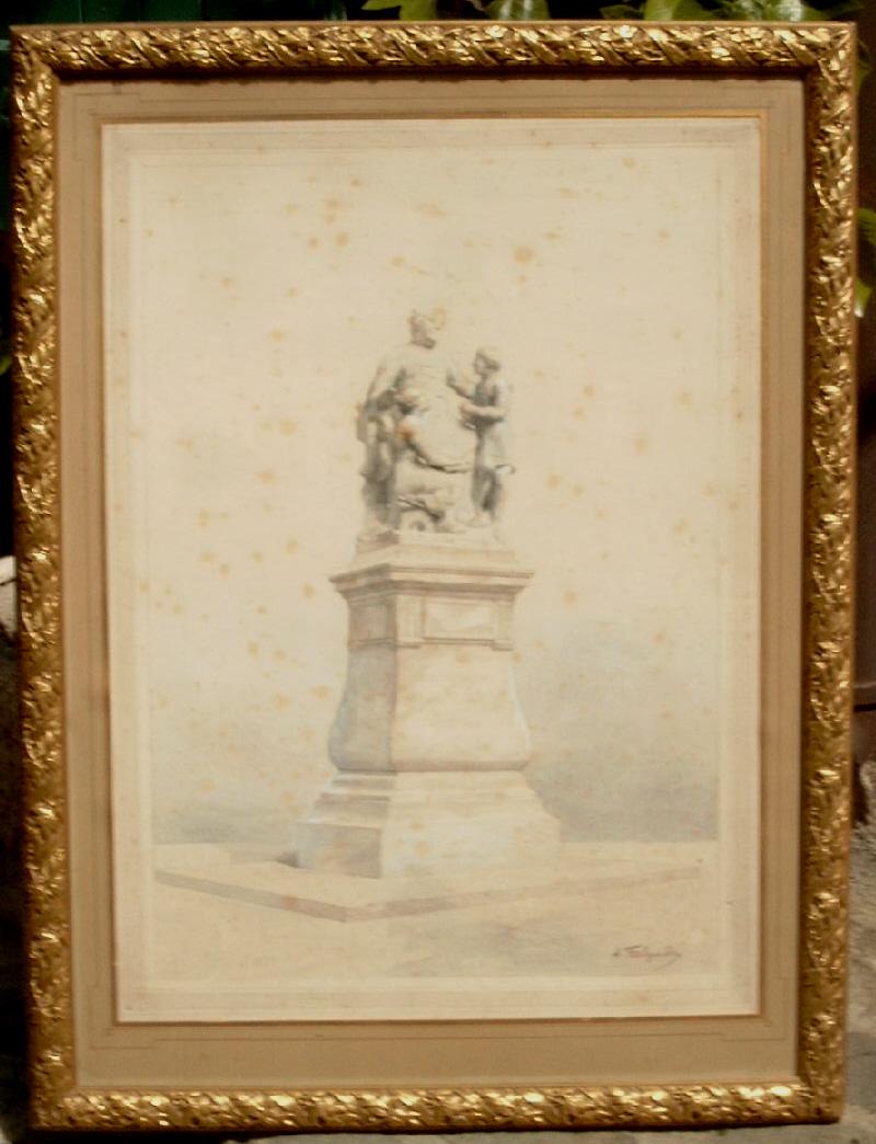 Projet De Monument Par Alexandre Falguiere 1831-1900
