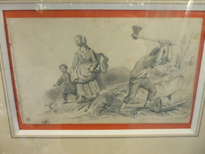 Beautiful Drawing Of Eugene Deveria Signed And Dated