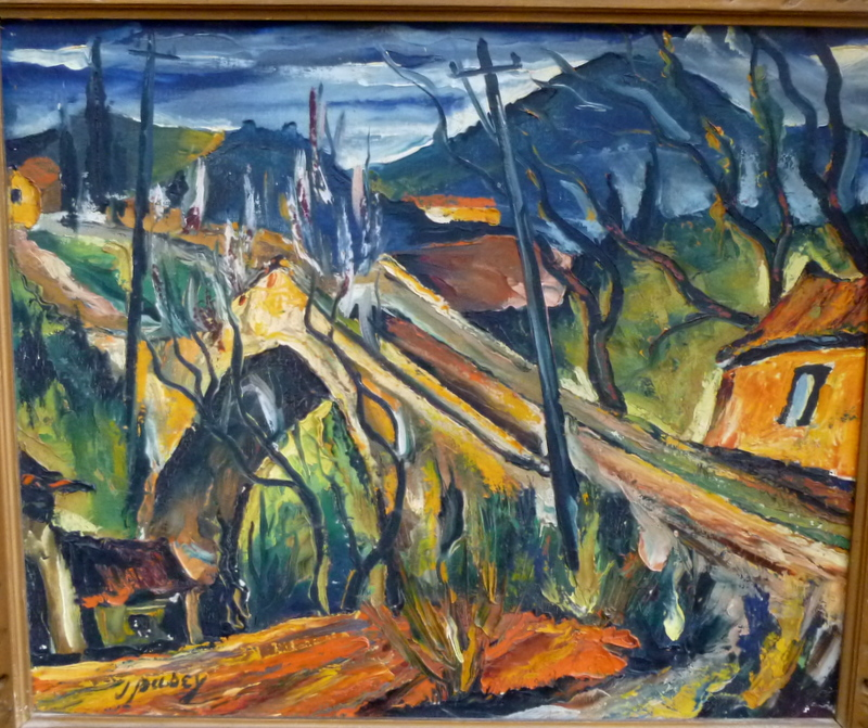 Rare Tableau Du Peintre Américain John Pusey