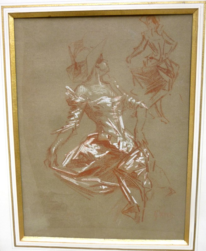 Original Drawing By Jules Cheret Exhibited At The Evian Museum In 2010 Reproduced In The Catalog