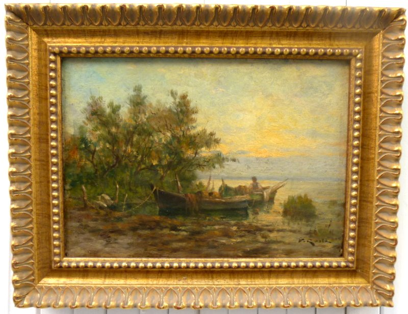 The Two Boats By Victor Coste 1844-1923