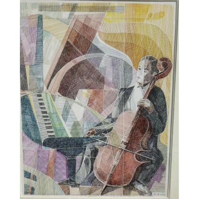 Piano Et Viloncelle Par Richard Jeranian Né En 1921