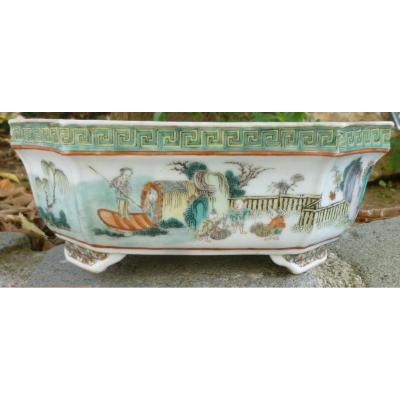 Jardinière Chine Porcelaine Famille Verte XVIIIème - XIXème