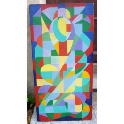 Abstraction Géométrique De 1970 Signée