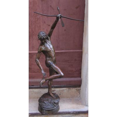 Très Grand et rare Bronze De Joseph Gabriel Sentis De Villemur 1855-1937