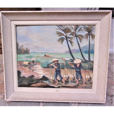 La Riziere Vietnam 1949  Par Jean Abadie 1921-2010